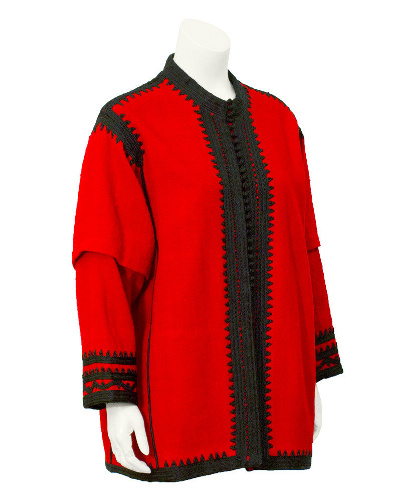 Red & Black Moroccan Style Jacket