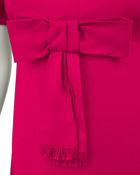 Fuchsia Empire Gown with Bow