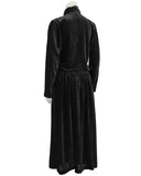 Black Velvet Asymmetrical Dress