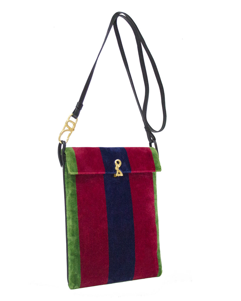 Rectangle Velvet Crossbody Bag