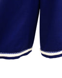 Blue and White Culotte Ensemble