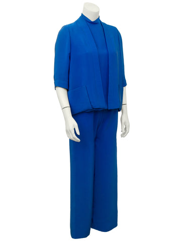 Blue Silk 3 pc. Ensemble