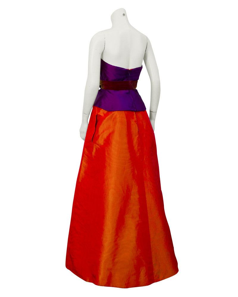 Purple & Orange Ball Gown
