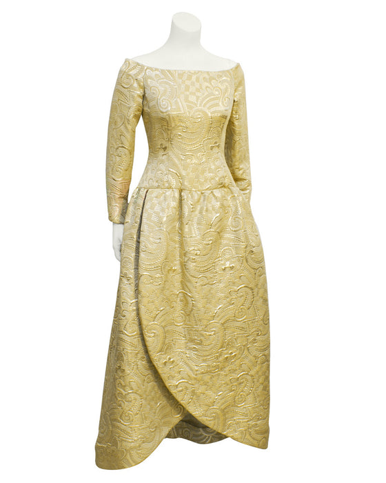 Gold Brocade Gown