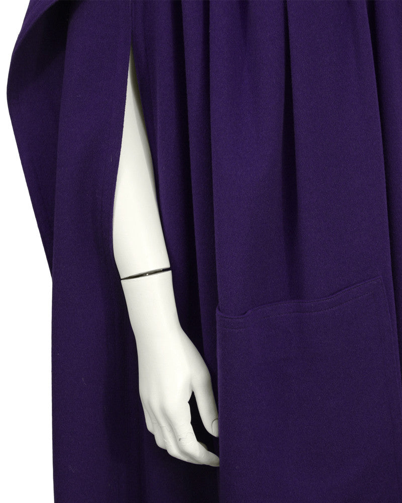 Purple Wool Cape