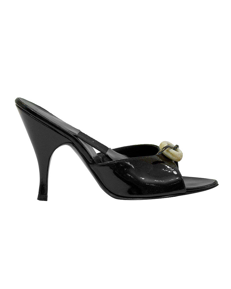 Black patent leather Spring-o-laters