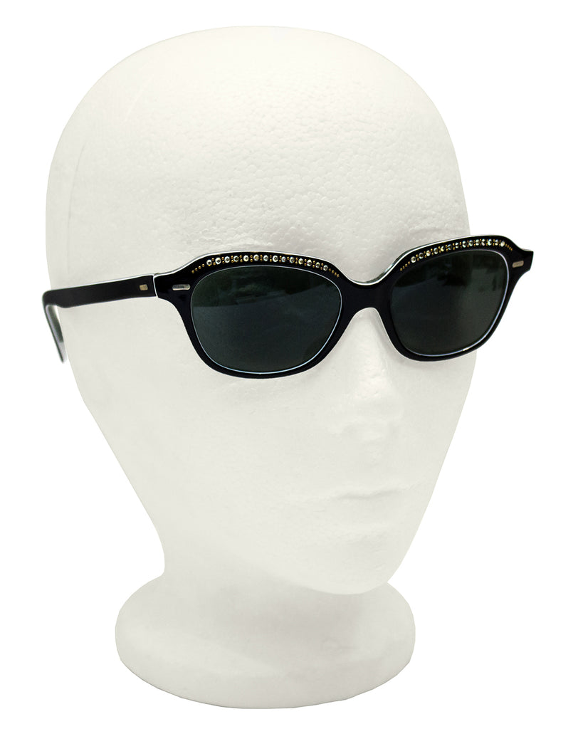 Black Embellished Sunglasses