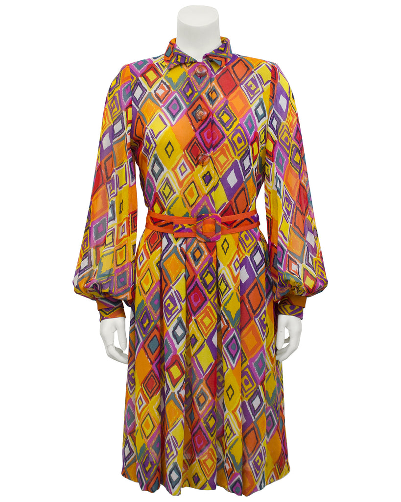 Multi-Color Shirt Dress