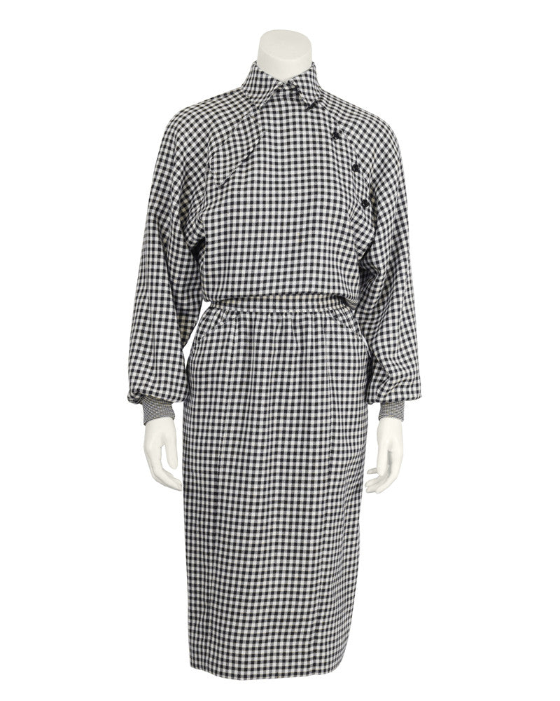 Black and White Houndstooth Dress