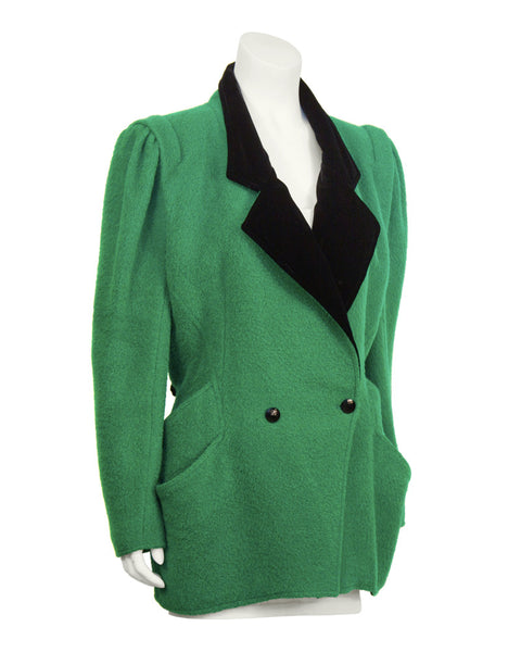 Kelly Green and Black Hacking Jacket