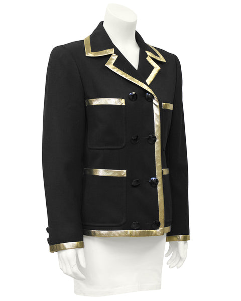 Black Jacket with Gold Lurex Trim