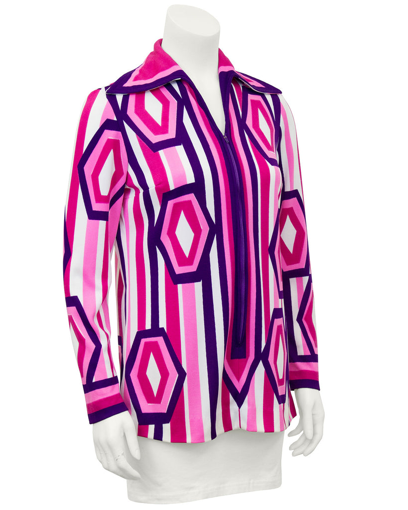Pink, Purple and White Mod Graphic Tunic