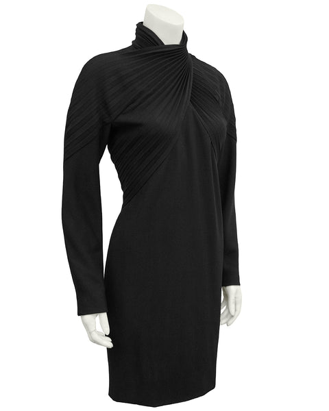 Black Wool Cocktail Dress