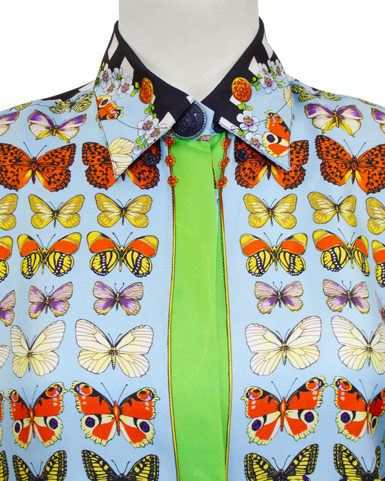 Butterfly Silk Shirt