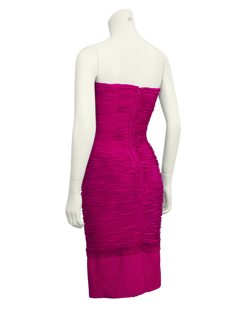 Pink Strapless Wiggle Dress
