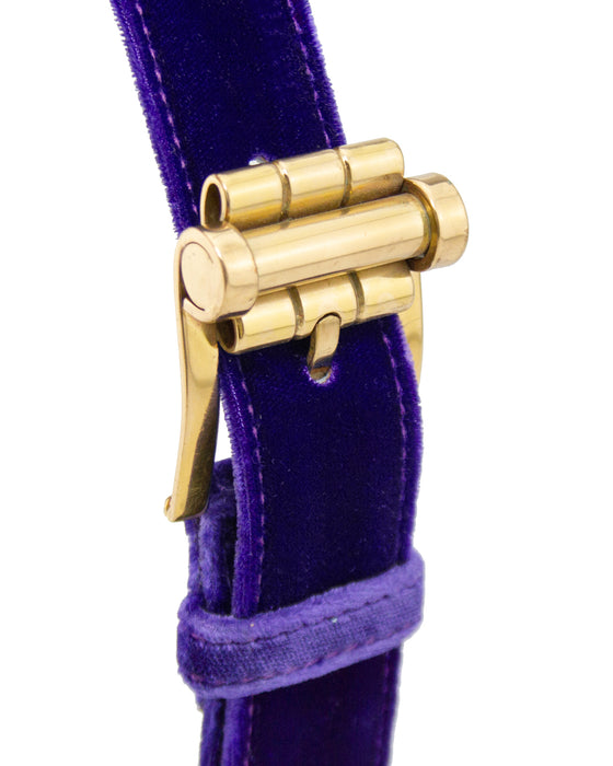 Purple Velvet and Pearl Belt