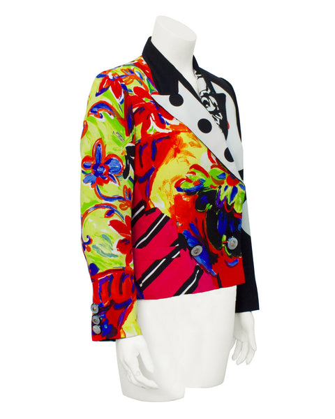 Mutli-color Silk Printed Blazer
