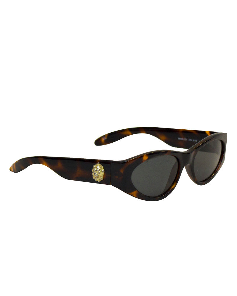 Faux Tortoise Sunglasses with Medallions
