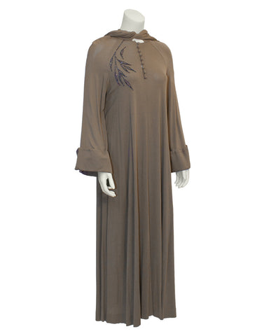 Brown Mocha Gown with Hood