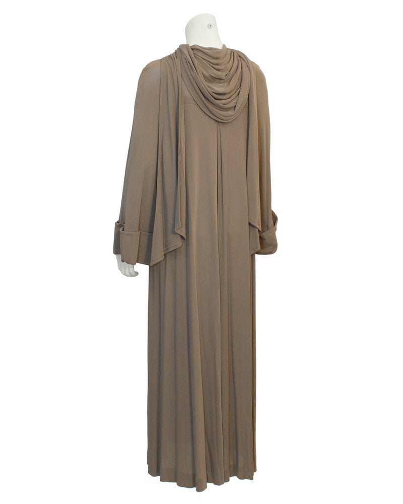 Brown Mocha Gown with Hood – Vintage Couture