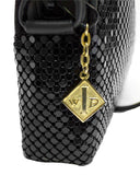 Black Metal Mesh Handbag
