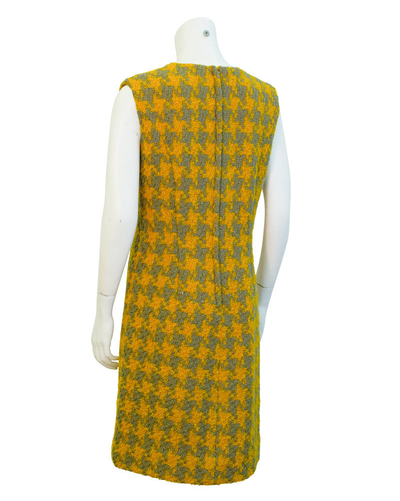 Yellow & grey houndstooth suit