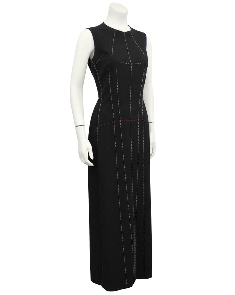 Black Deconstructed Maxi Dress