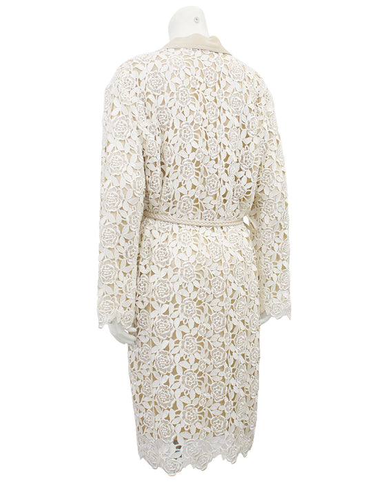 Cream and Beige Guipoire Lace Coat