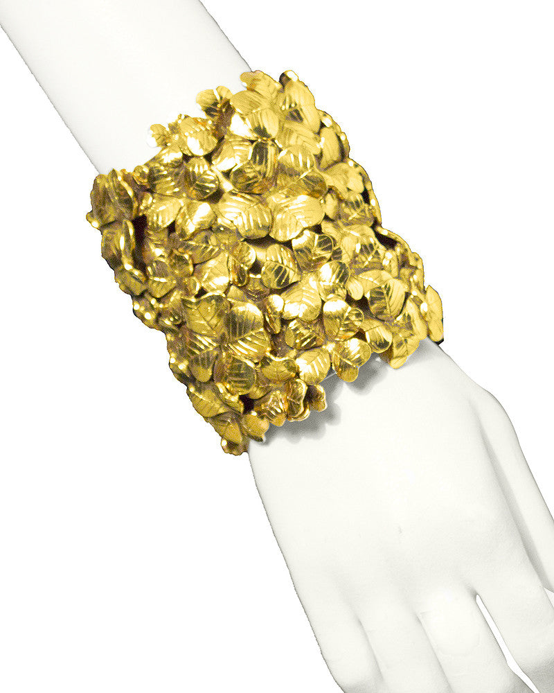 "Gold ""Lucky chyc"" cuff"