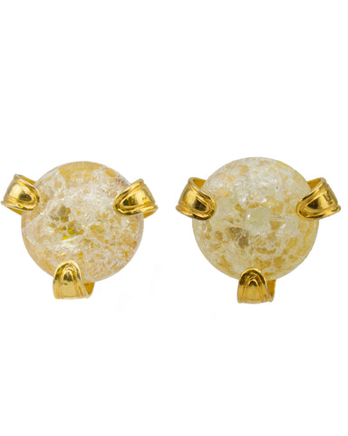 Glass and Gold Earrings