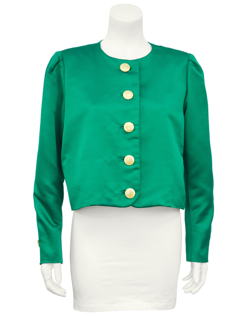 Green Silk Jacket