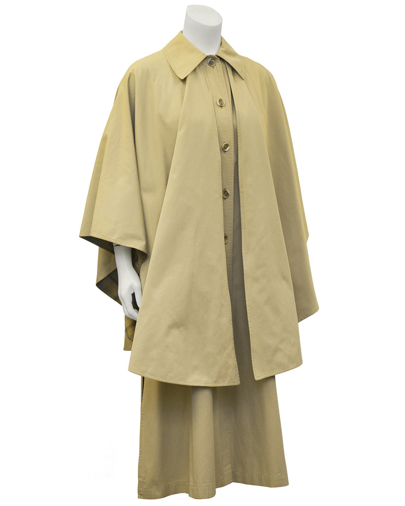 Beige Cotton Poplin Cape