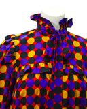 Multi-Color Polka Dot Smock Dress