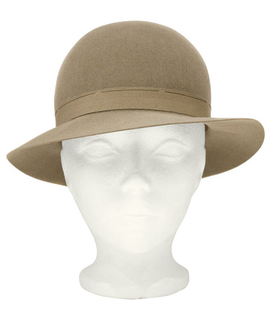 Taupe Bowler Hat