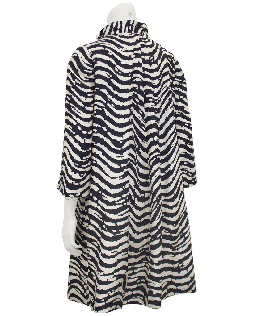 Zebra Printed Silk Swing Dress