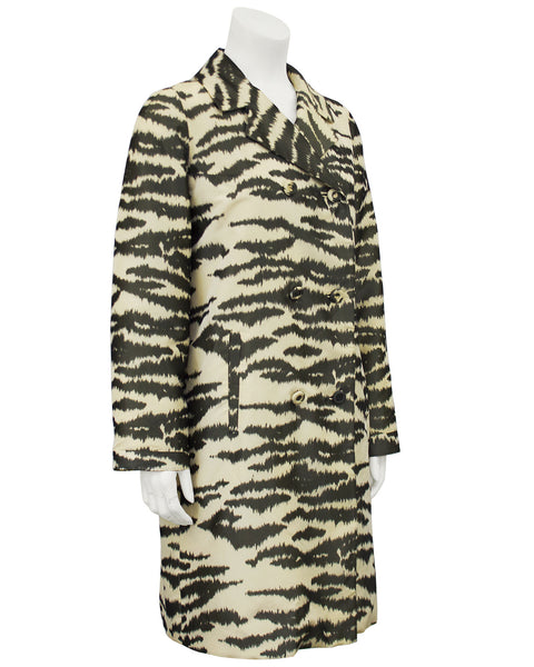 Zebra Printed Trench Coat
