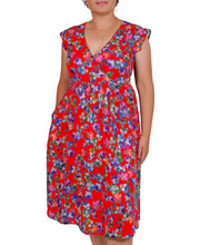 Load image into Gallery viewer, Boss Lady Floral Cross Over Dress ITA-A604