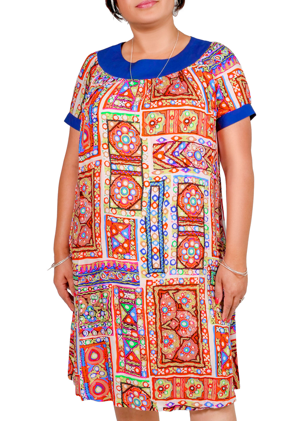 I Am A Goddess Tribal Print Dress ITA-209