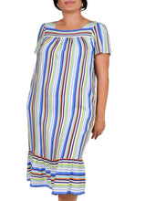 Load image into Gallery viewer, Beyond Beauty Ruffle Striped Dress ITA-208