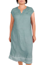 Load image into Gallery viewer, I Am Bold Rayon Crepe Denim Dress ITA-202
