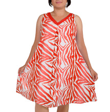 Load image into Gallery viewer, I Am Energetic Zebra Print Flare Dress ITA-211