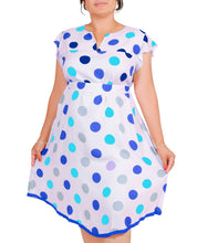 Load image into Gallery viewer, I Am Chic and Simple Multicolored Polka Dot Dress ITA-205