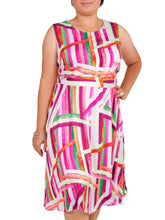 Load image into Gallery viewer, I Am Elegant Abstract Line Dress ITA-J409