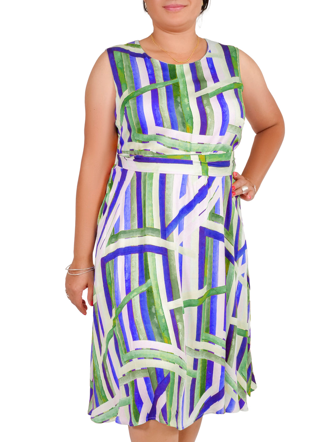 I Am Elegant Abstract Line Dress ITA-J409