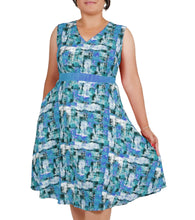 Load image into Gallery viewer, I Am The Painter Of My Life Abstract Painted Dress ITA-J412