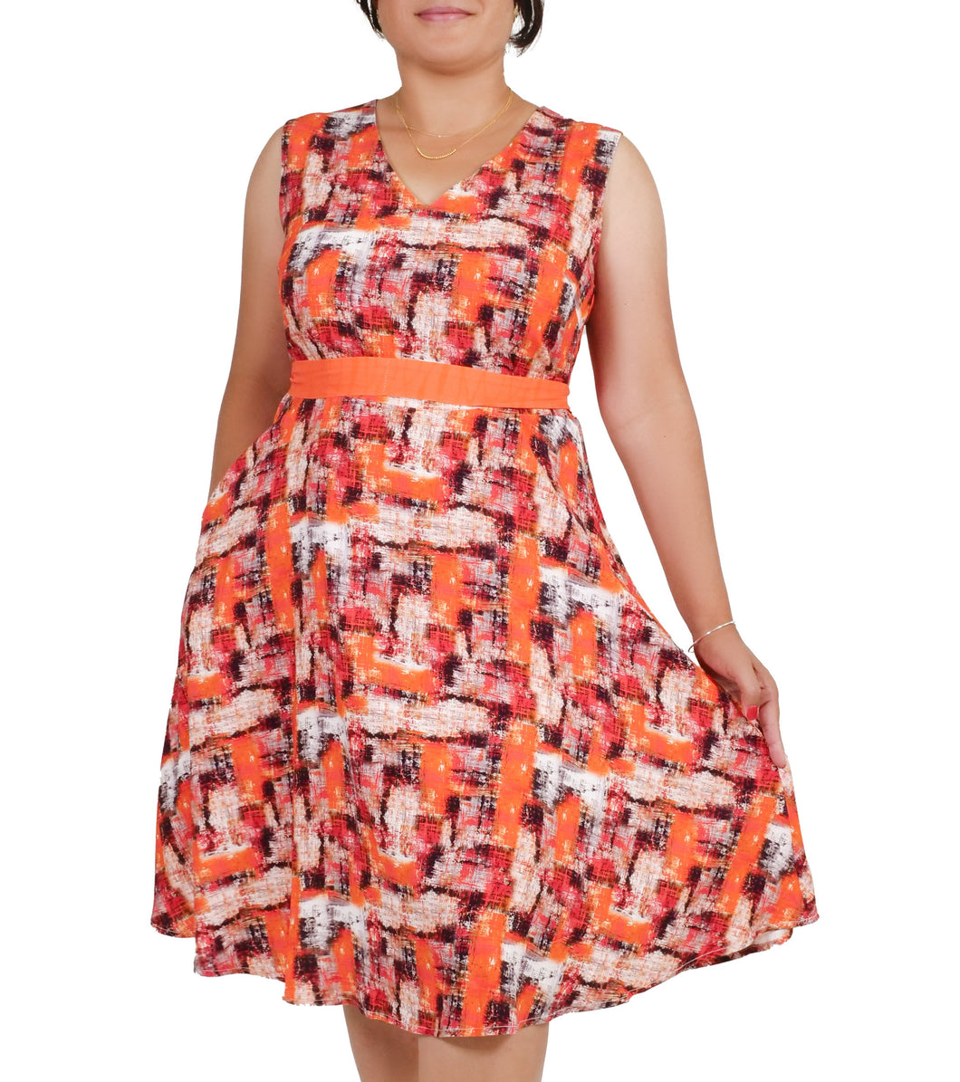 I Am The Painter Of My Life Abstract Painted Dress ITA-J412