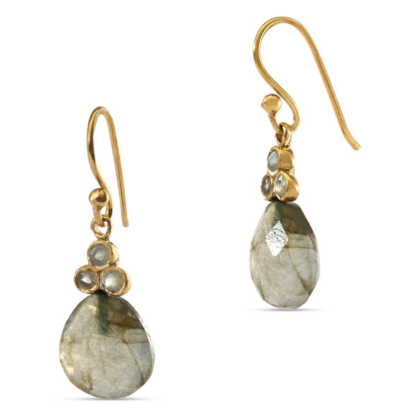 I Am Pleasant To Be Around Labradorite Tear Drop Earring.