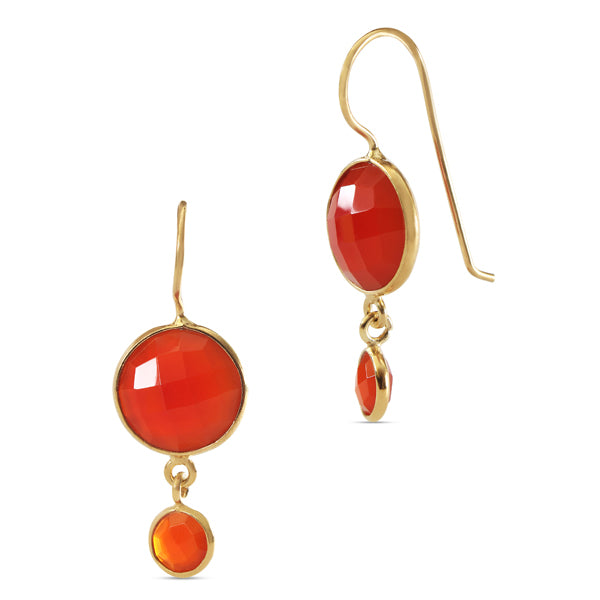 Gold filled Drop Earring - Carnelian