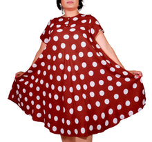 Load image into Gallery viewer, I Am Persistent Polka Dot Dress ITA-H802
