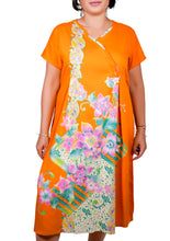 Load image into Gallery viewer, I Am Comfortable Garden Of Roses Cross Neck Dress ITA-H807